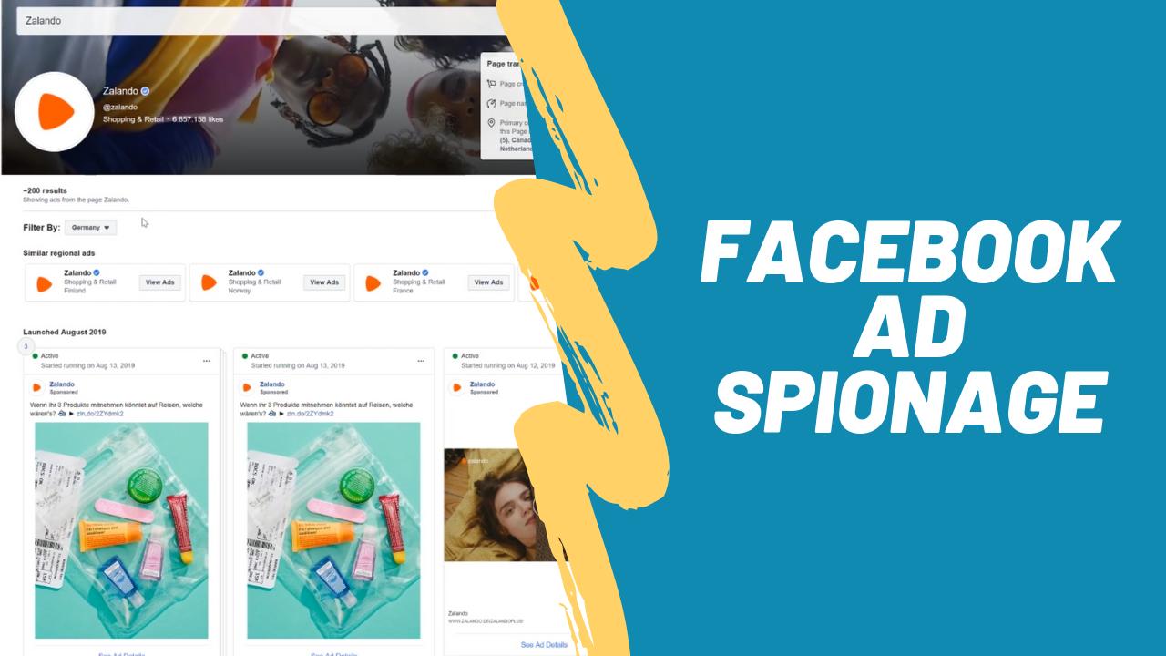 Facebook Ad Spionage
