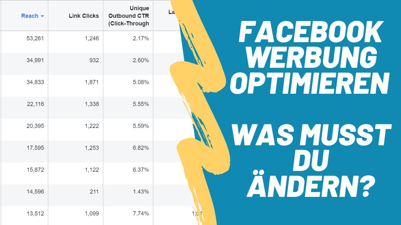 FB-Werbung optimieren